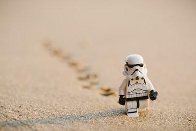 Stormtrooper walking on sand
