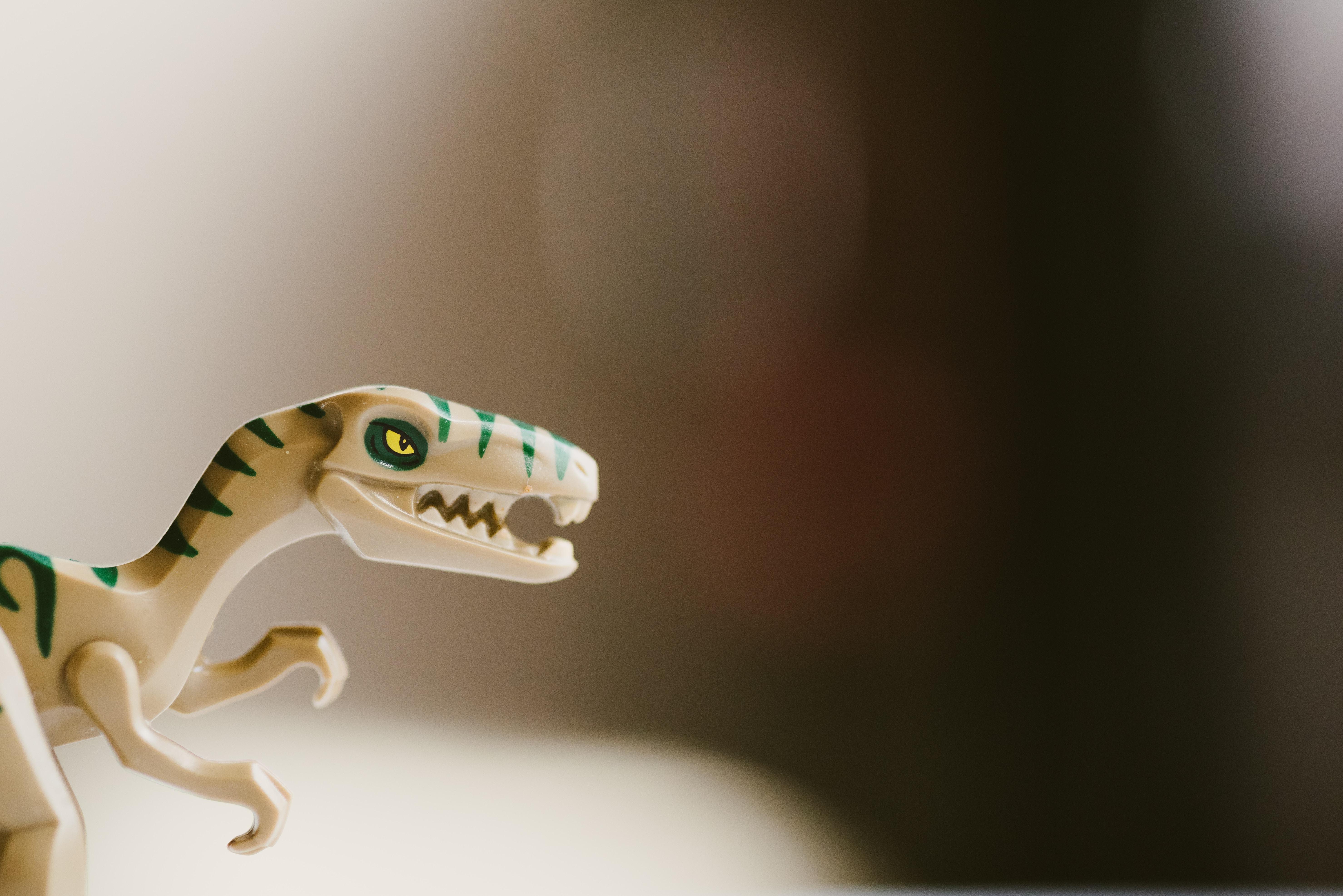 A toy dinosaur.
