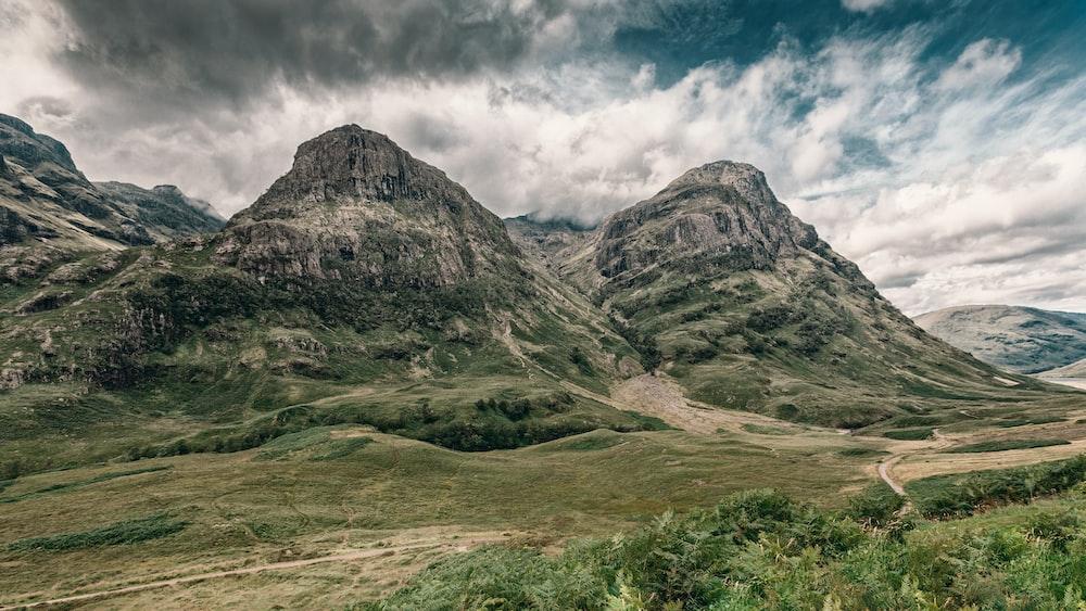 green rocky mountain