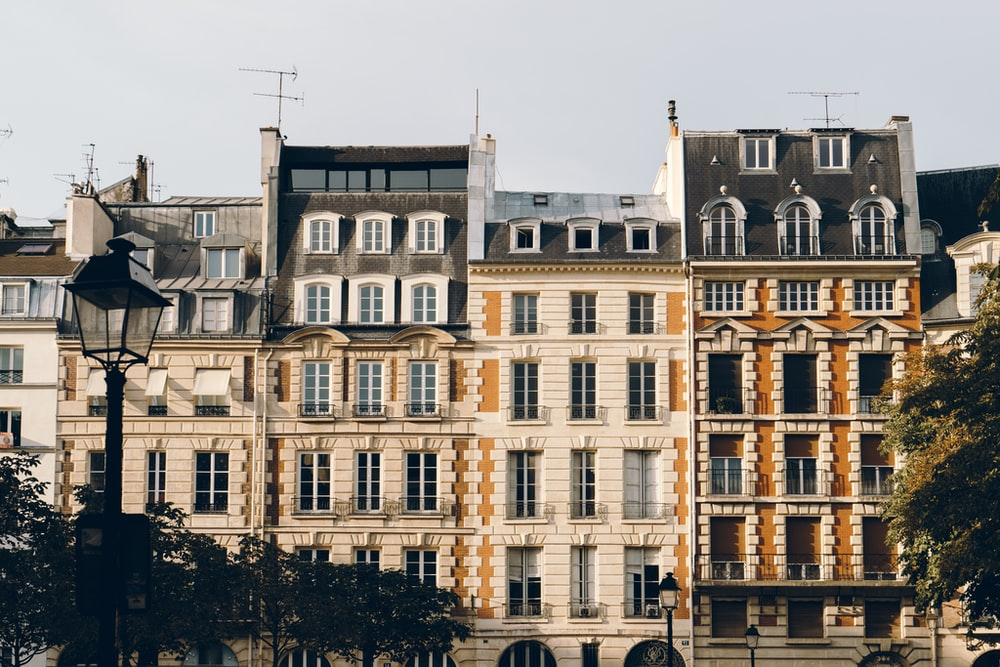 ground shot of beige concrete building
