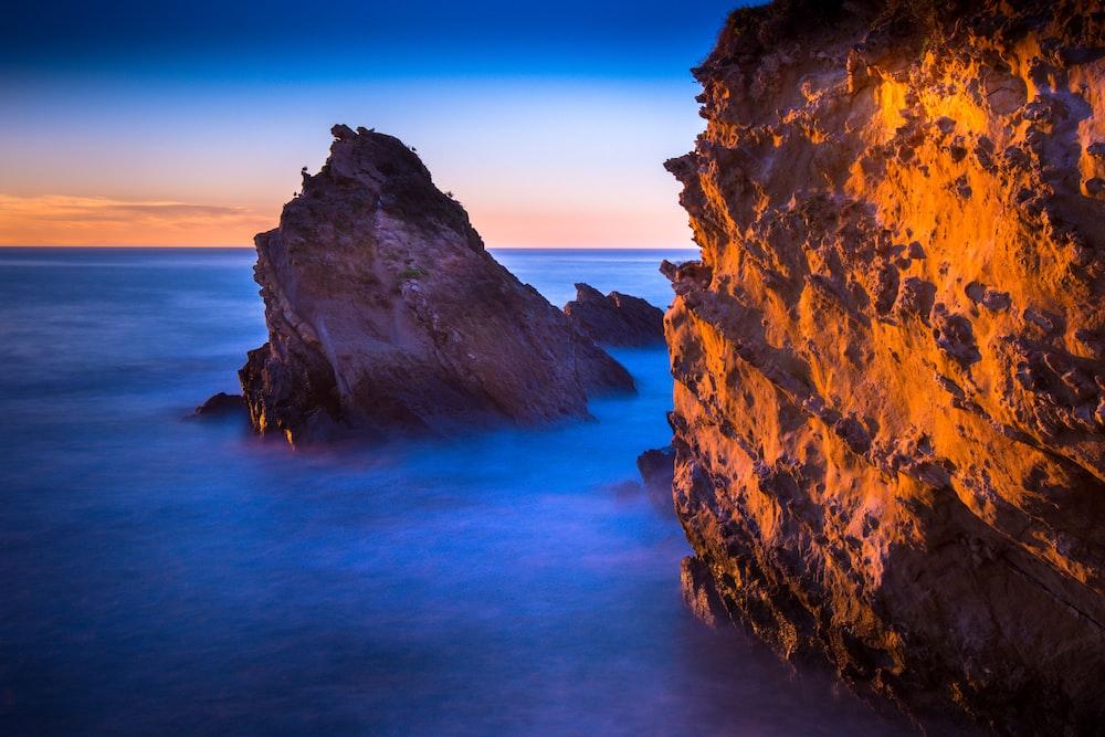 landscape photo of rocks