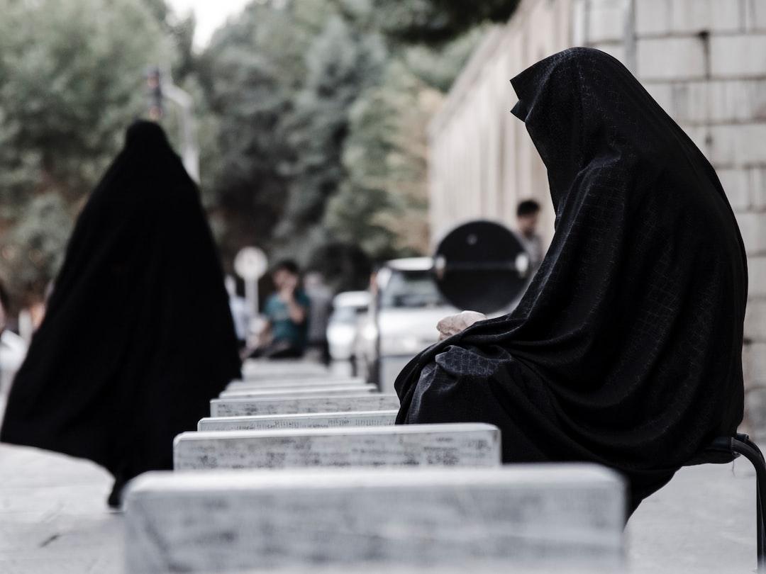 Two black burkas Iran