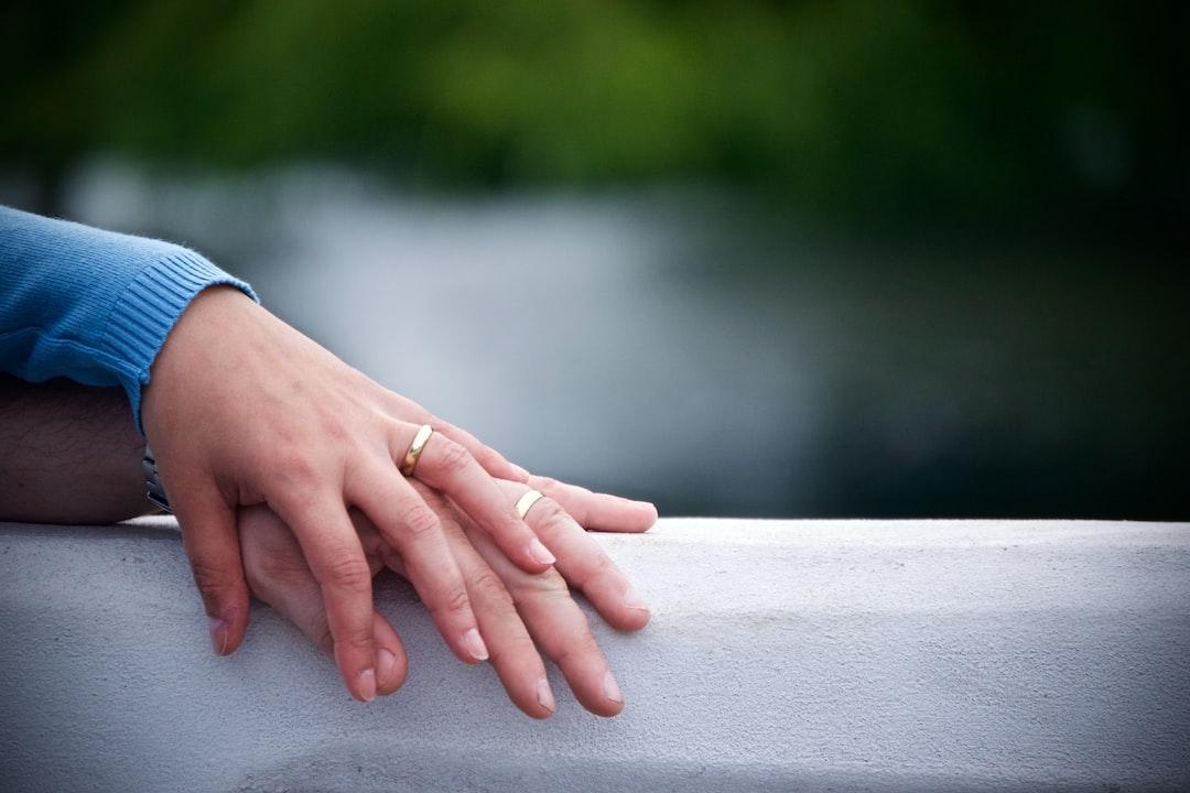 Bedford hand holding wedding