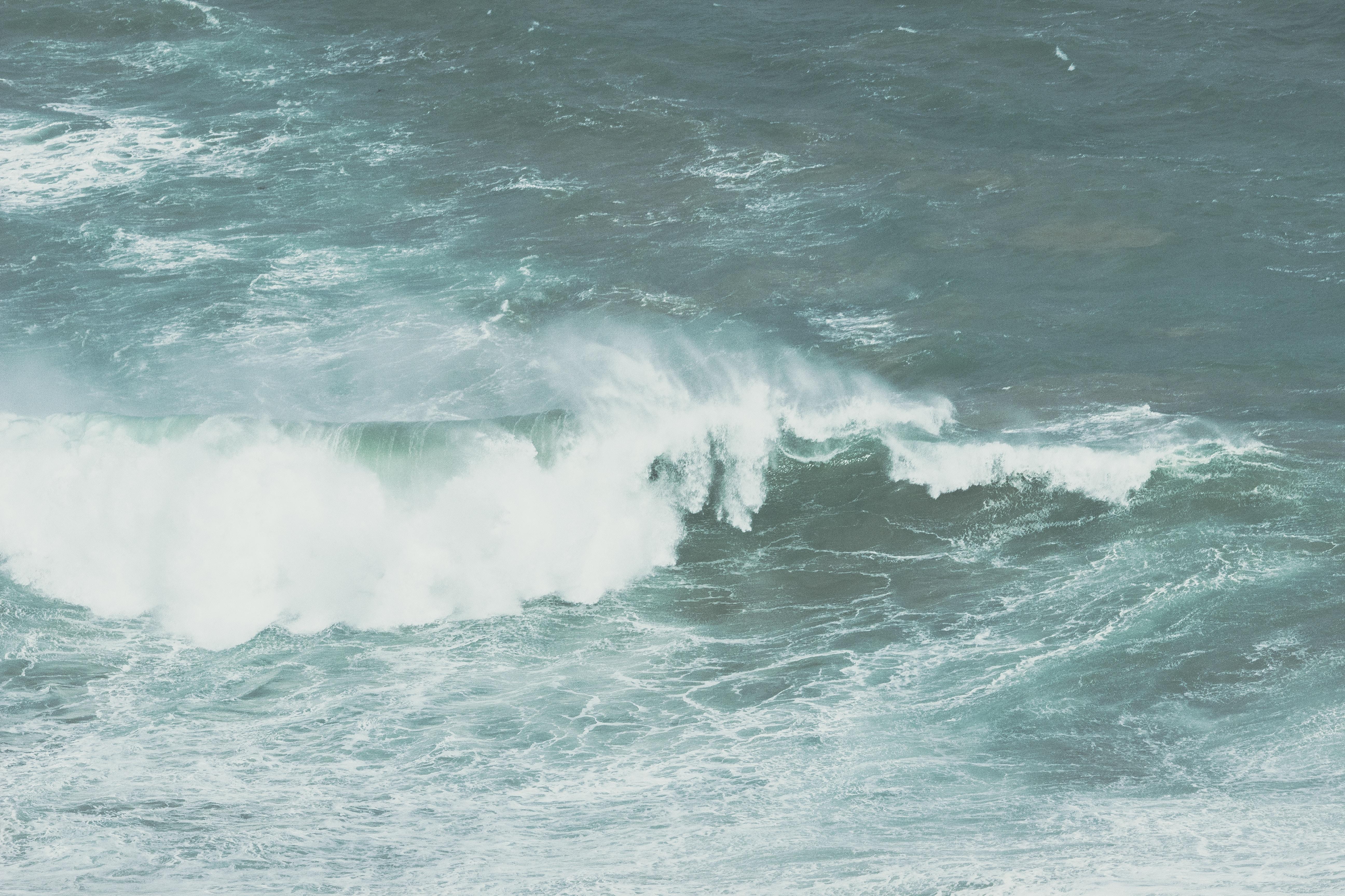 gray ocean wave during daytime