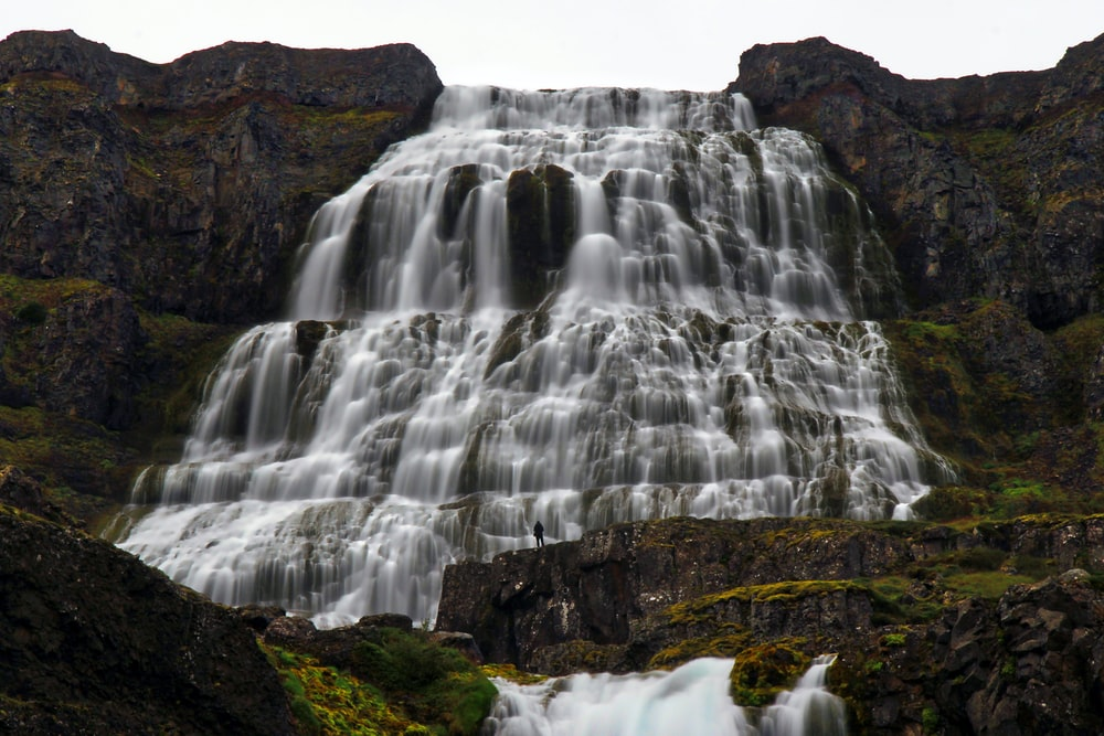 time-lapsed photography of waterfalls