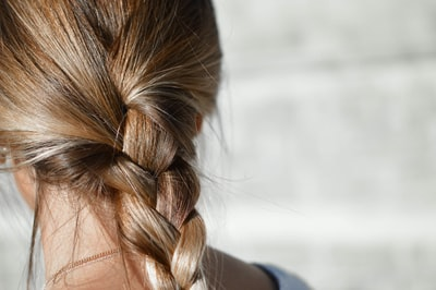 woman with braid hair hair zoom background