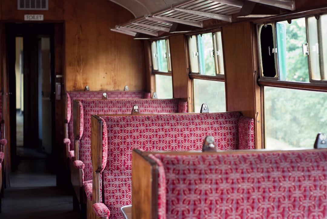 Vintage British railway carriage interior