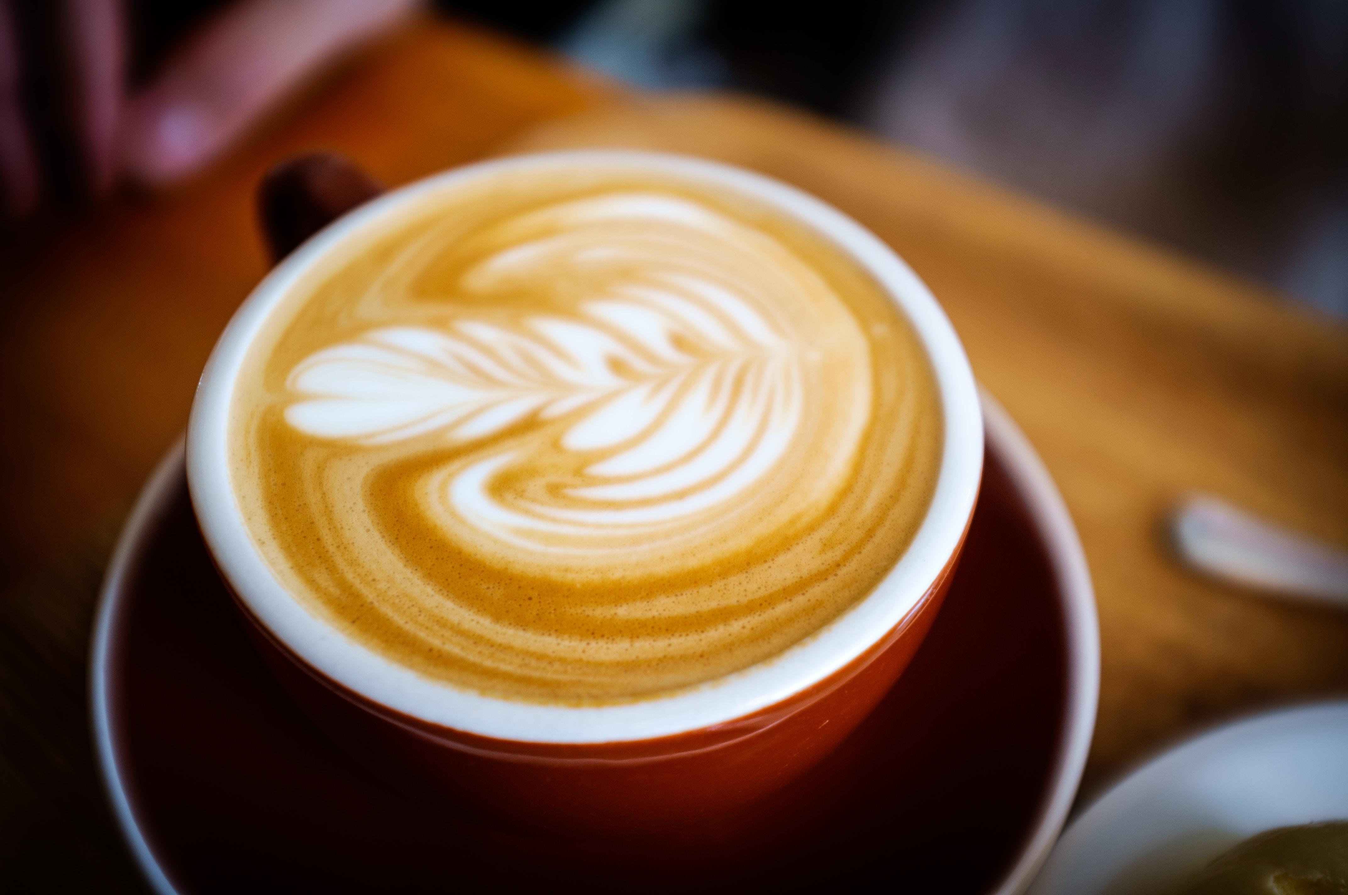 ceramic coffee mug filled with coffee