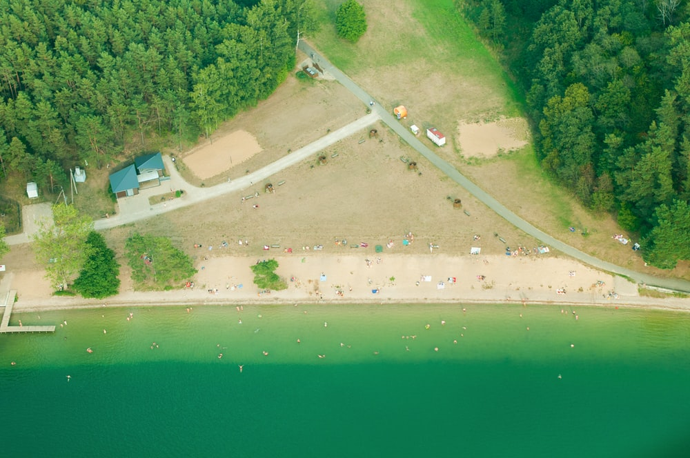 aerial view photography of beachfront
