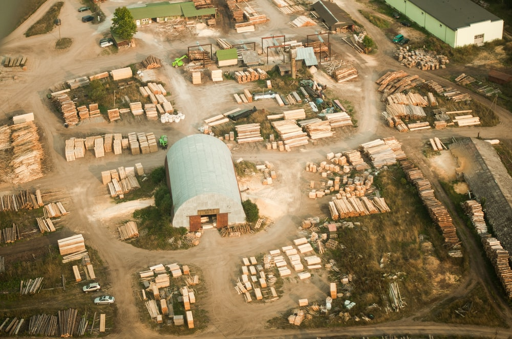 aerial view of wood lot