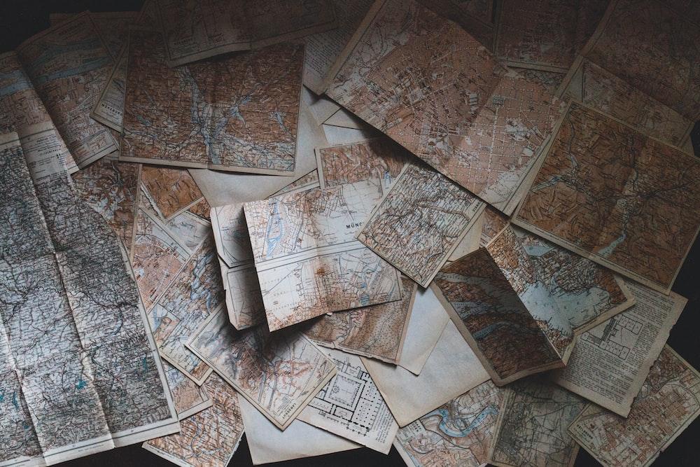 maps lying on the floor