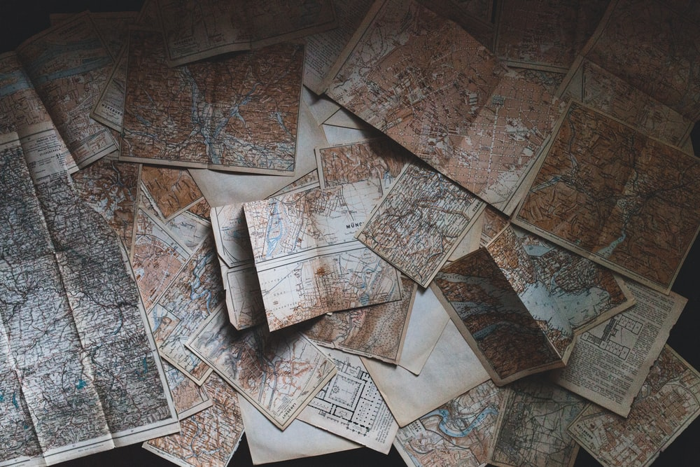maps lying on the floor