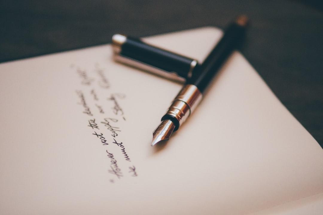 testamento firmado a pluma
