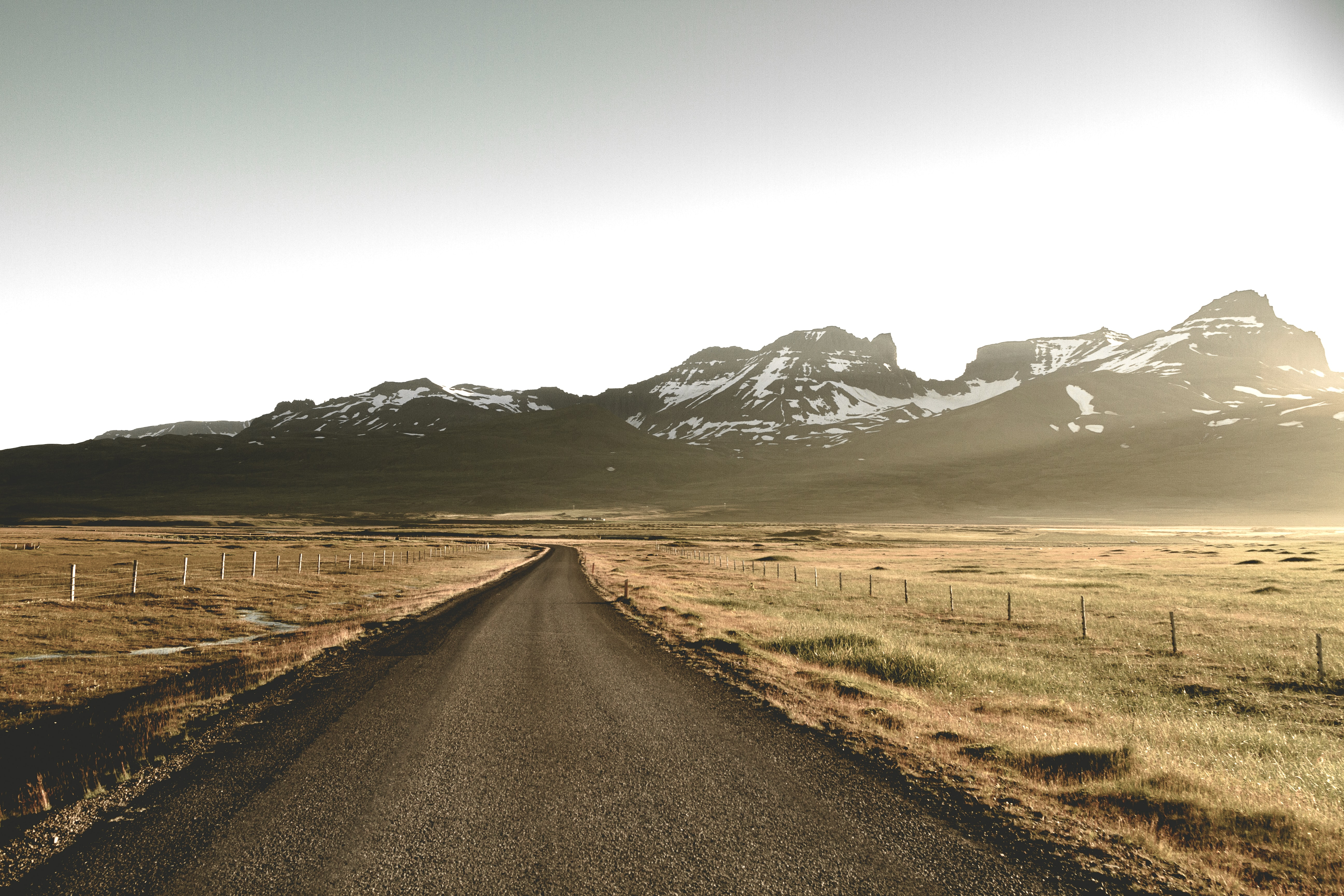 dirt road between steppe