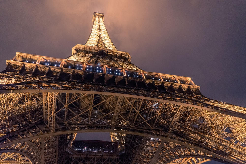 low angle photo of Eiffel Tower, Paris