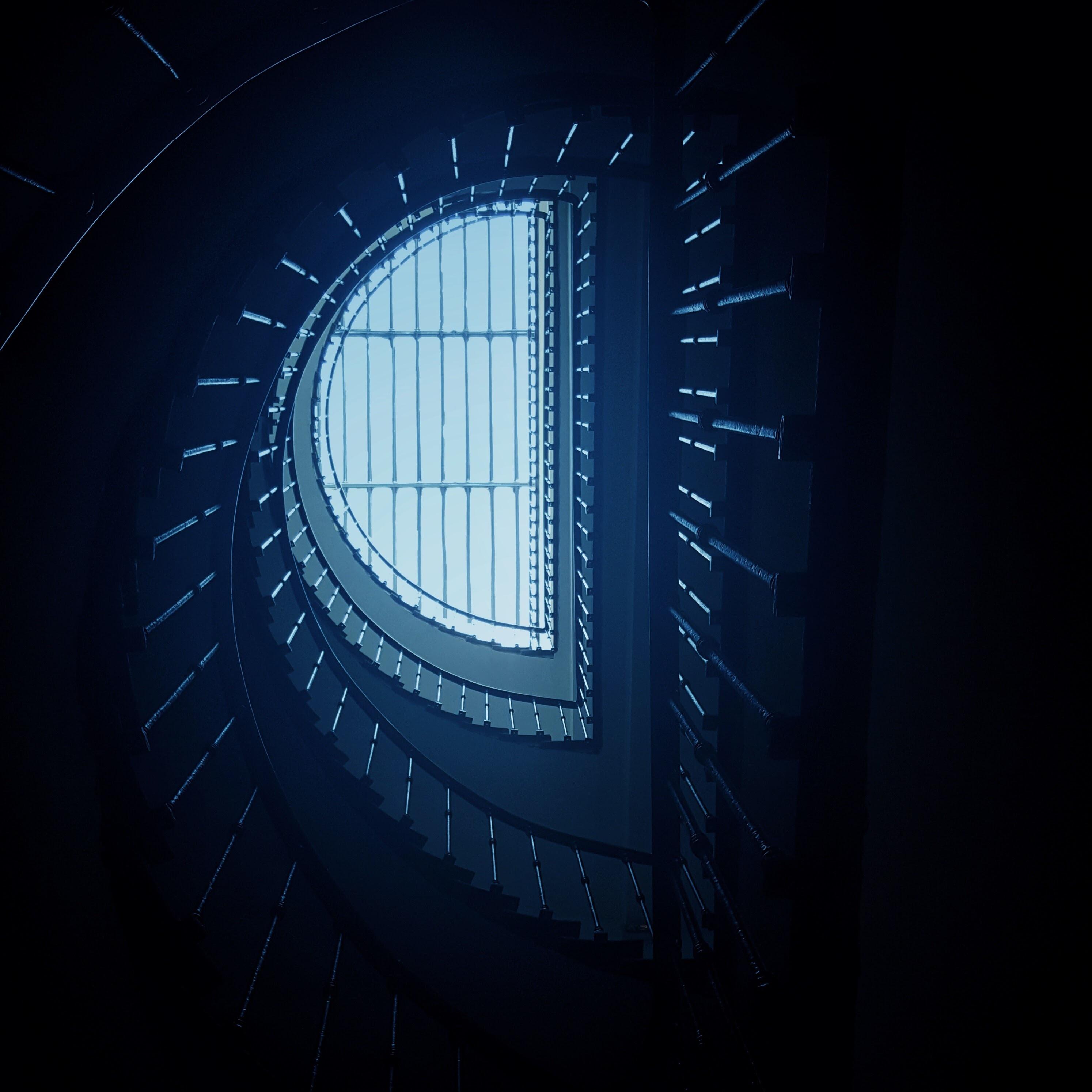 A skylight window shaped like a half moon in Clermont-Ferrand