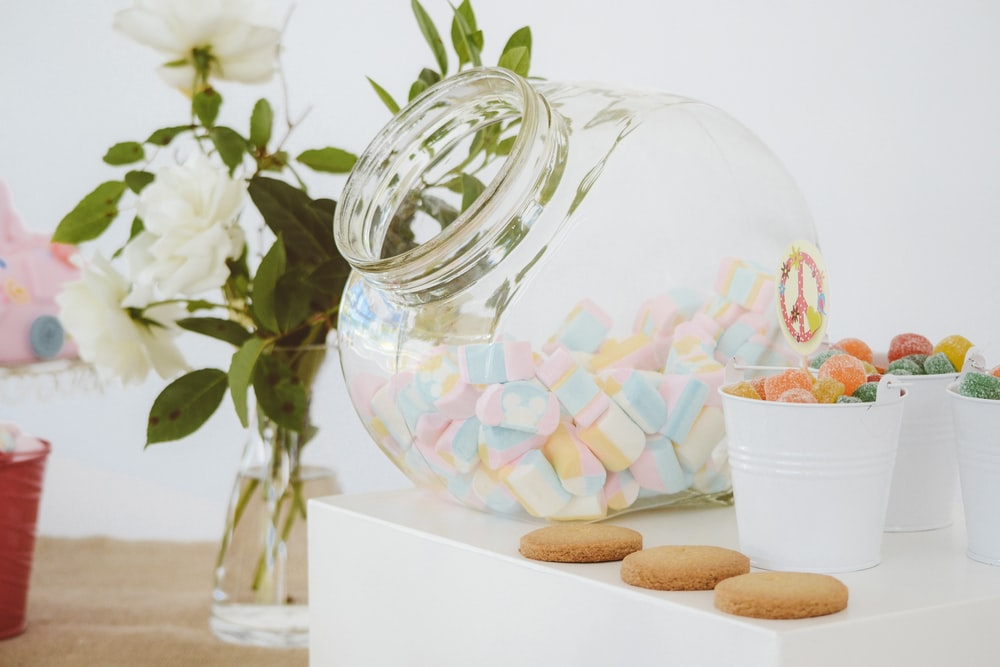 clear glass candy jar with jelly candies nea clear glass vase