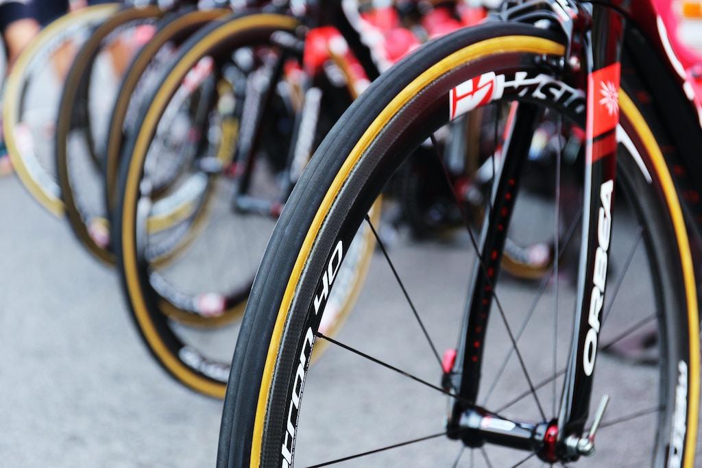 bikes on gray concrete pavement