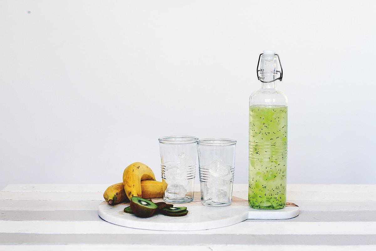hangover drinks - kiwi water