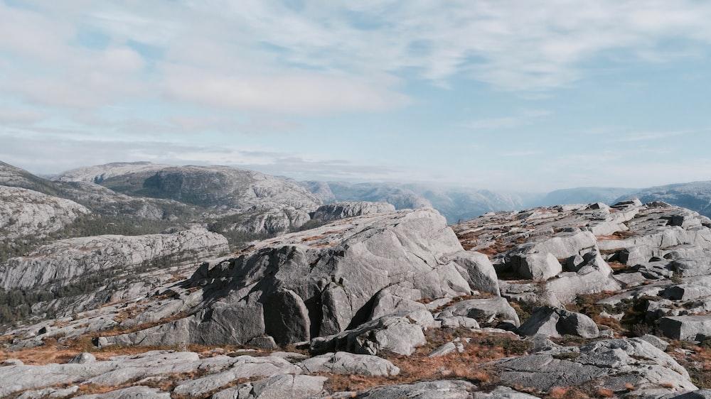 gray stone mountain during daytime