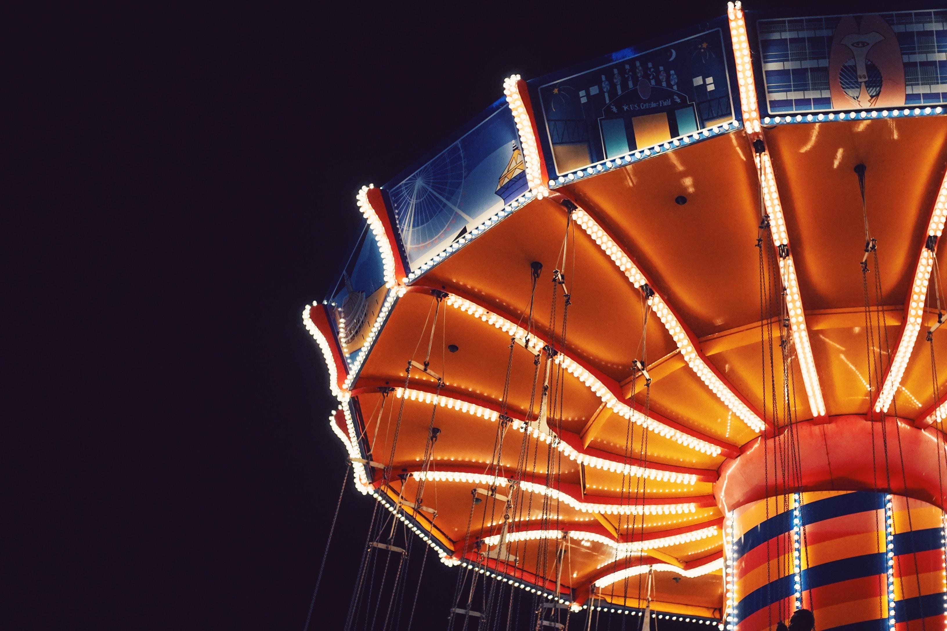 An amusement ride in Navy Pier terminal