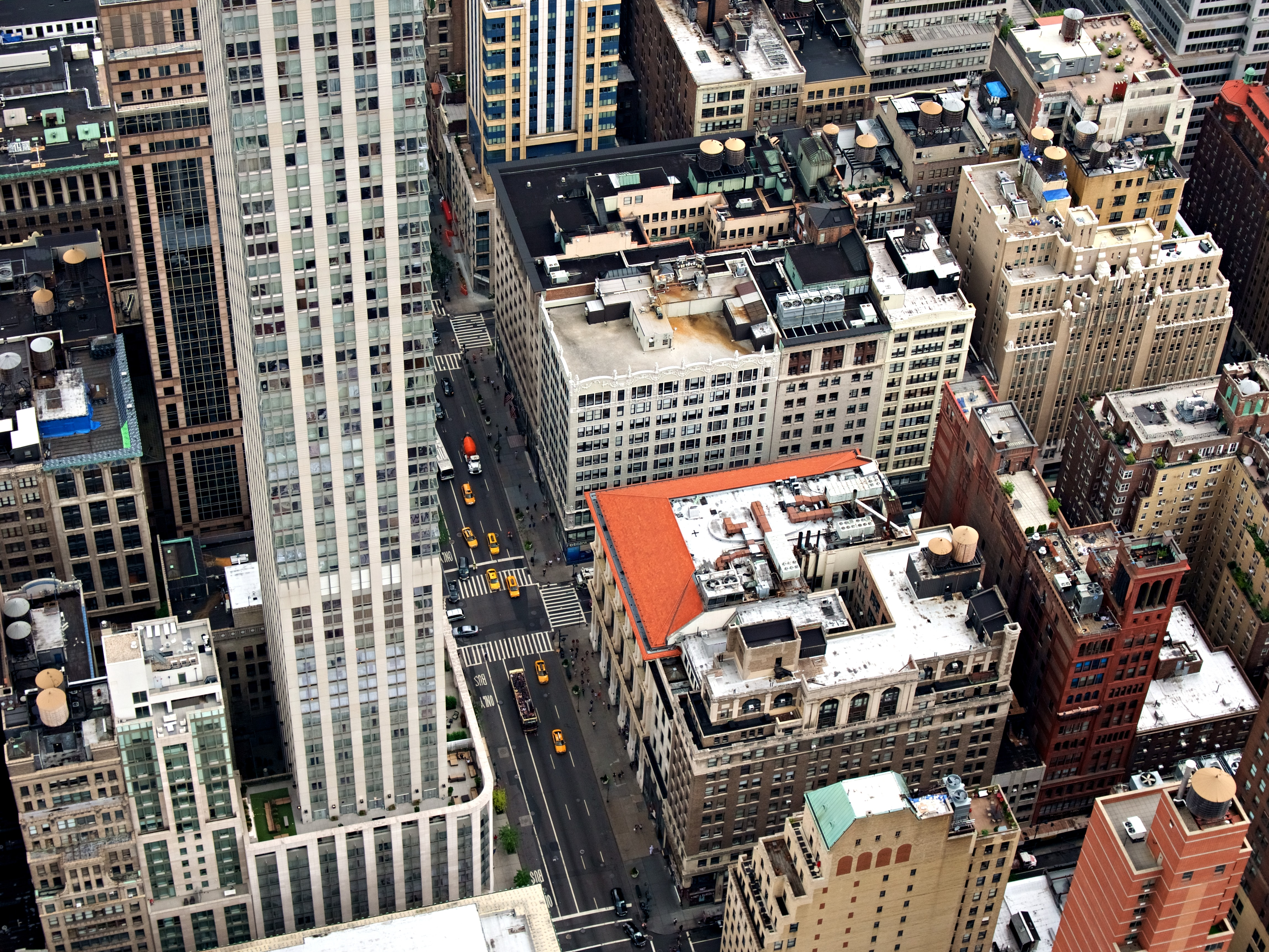 Empire State Building surrounded by highrises