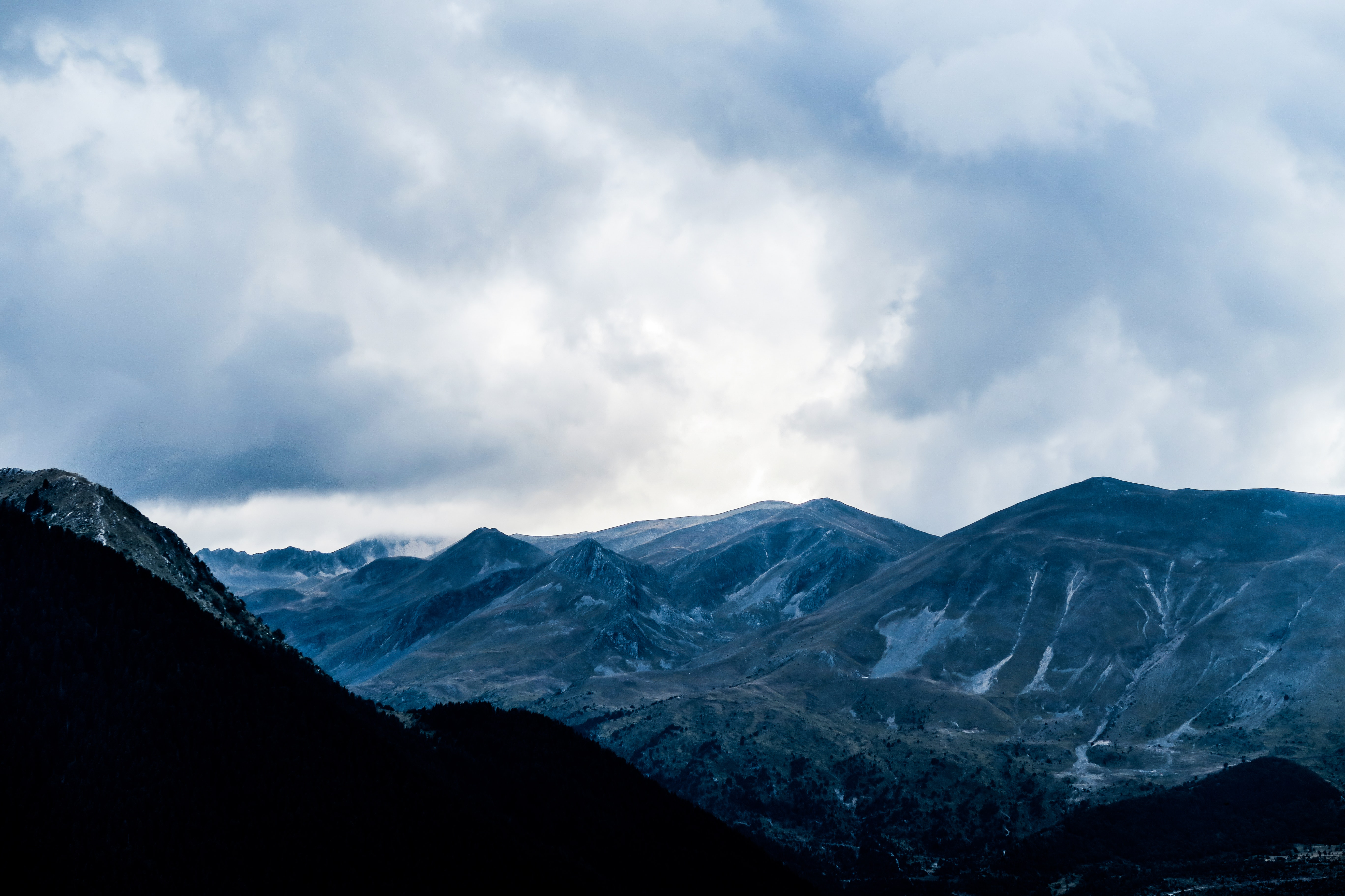 A valley between low mountains in Metsovo