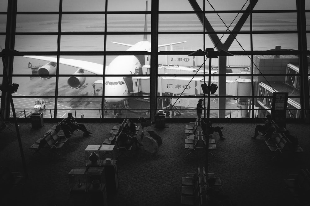 people inside airpot