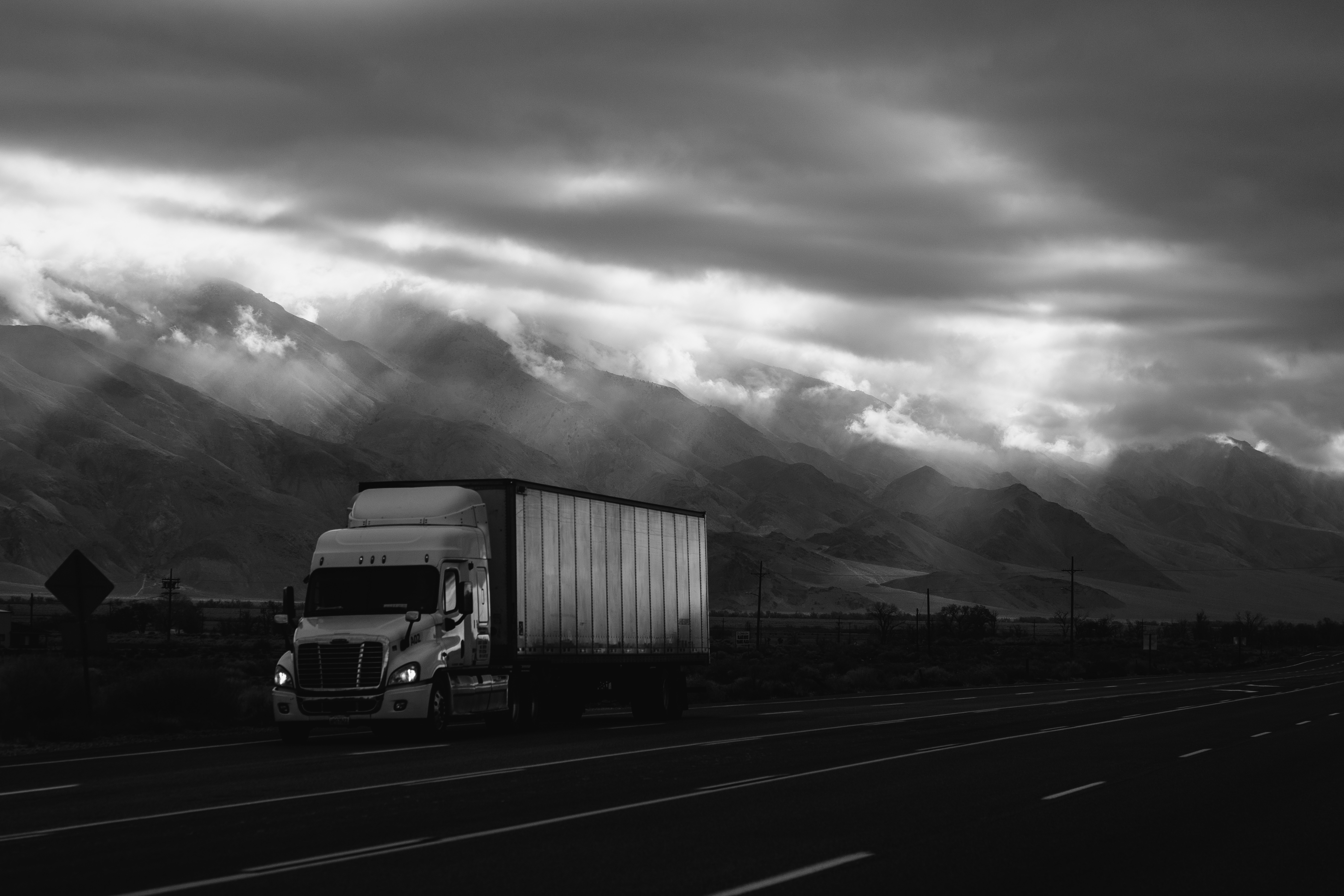 """truck with clouds highway 395"""