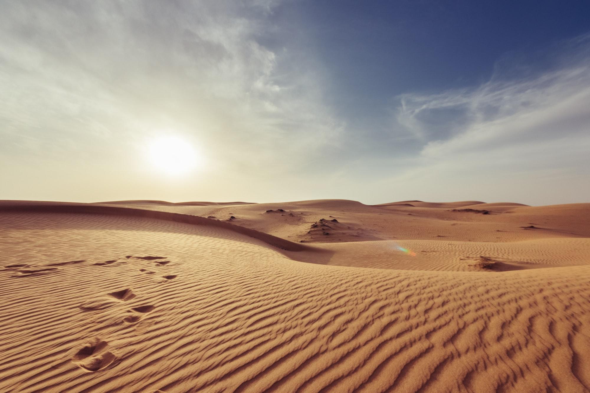 Muscat desert sunset