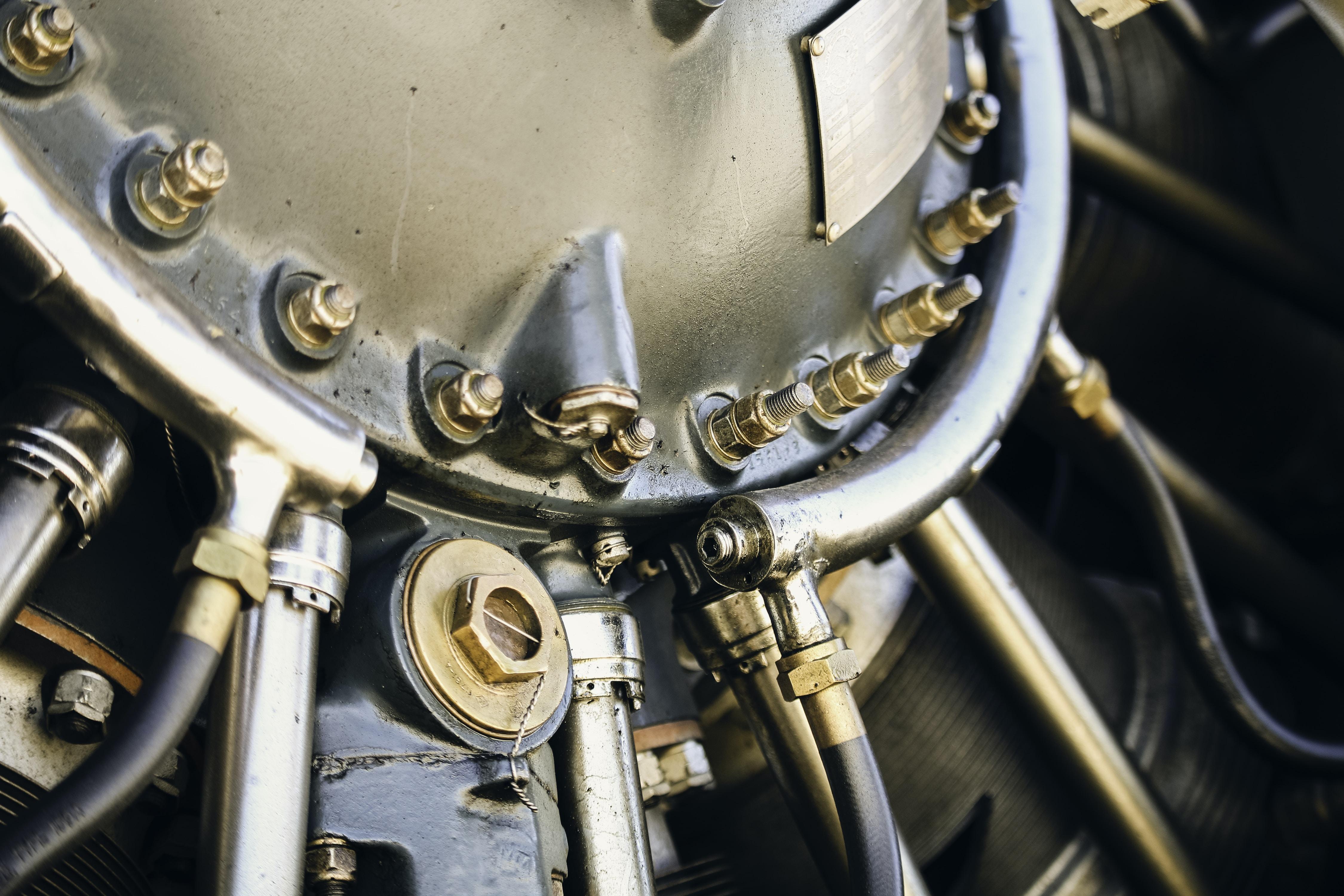 A macro shot of machinery at Henderson Executive Airport-Hnd