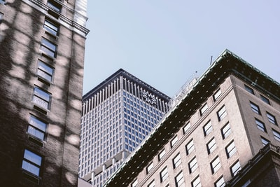 architectural photography of glass buildings