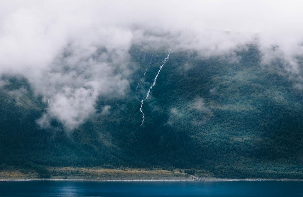 lightning on mountain