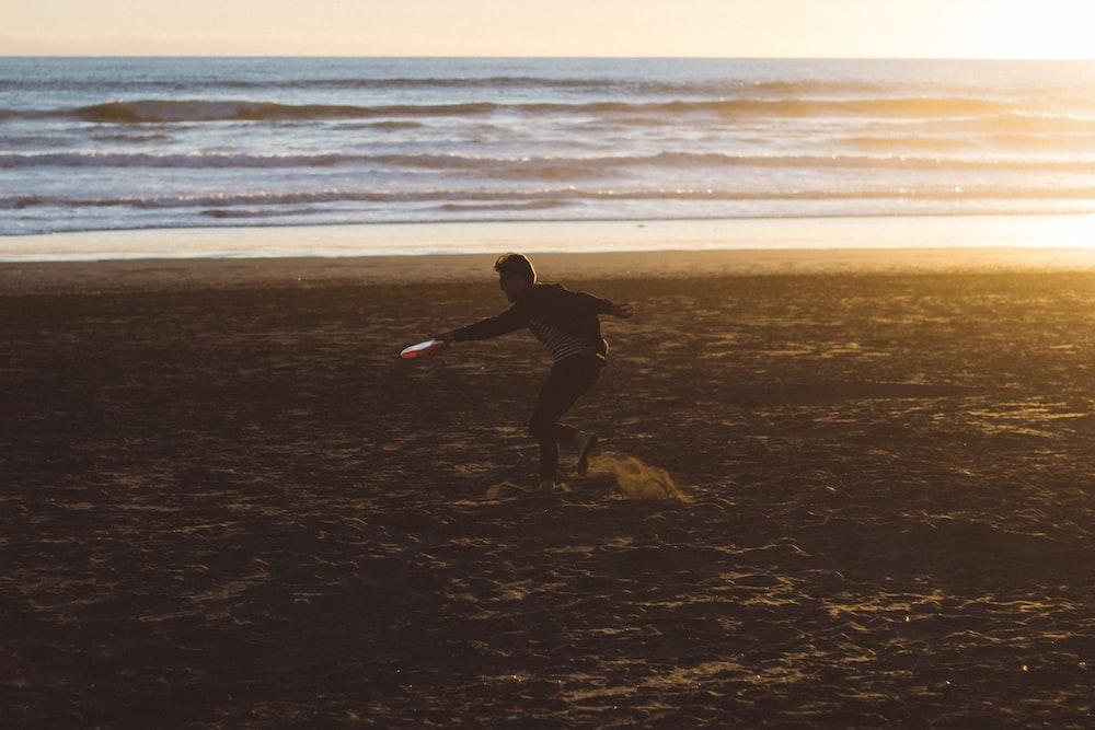 man in beach