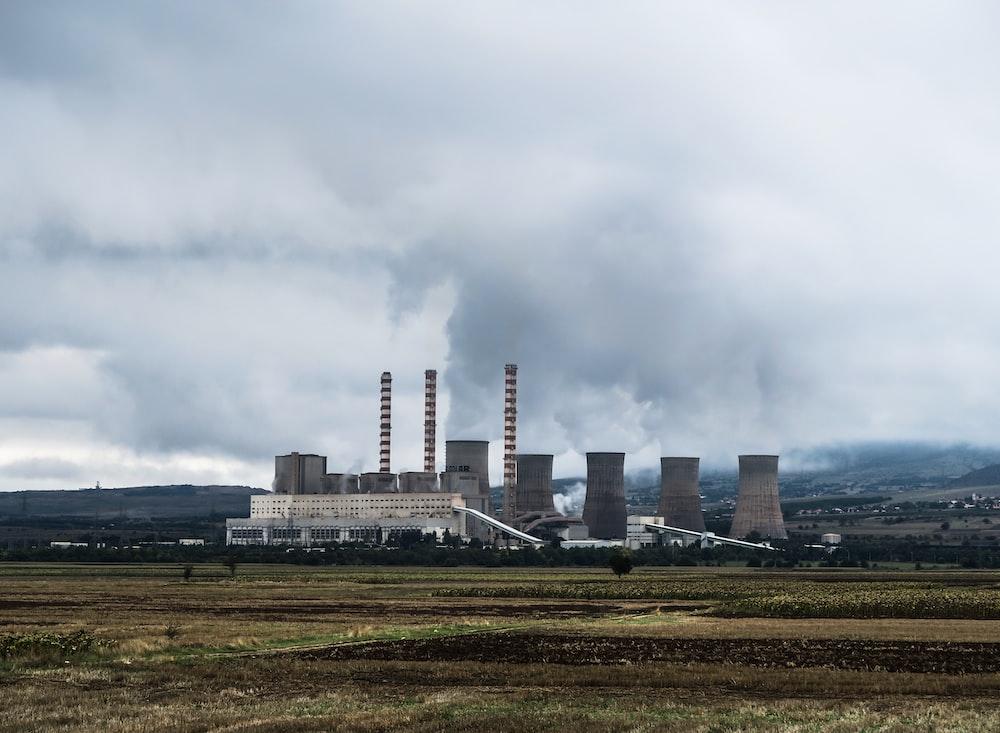 industrial power plant skyline