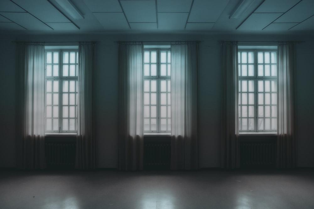 three open windows