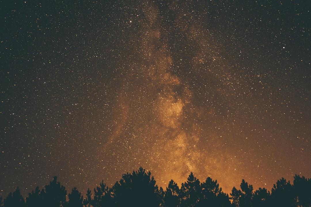 Golden Night Milky Way
