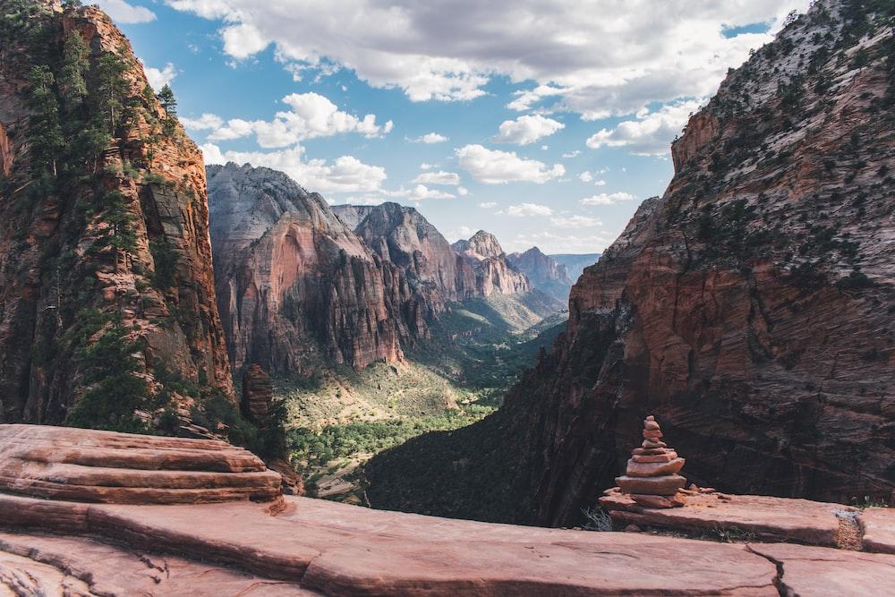 national park mountain range during daytime
