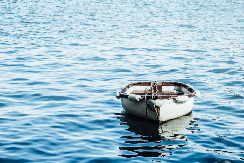 white wooden boat on body of water
