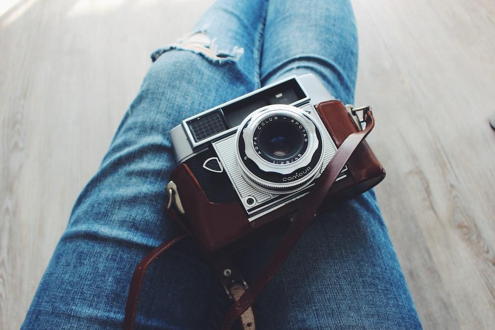 gray and brown camera