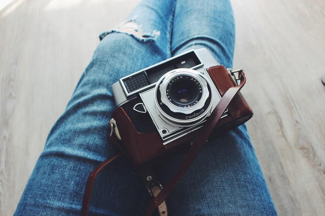silver vintage camera