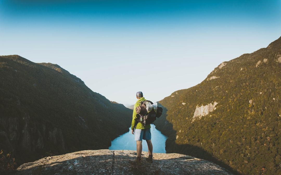 Over a mountain lake