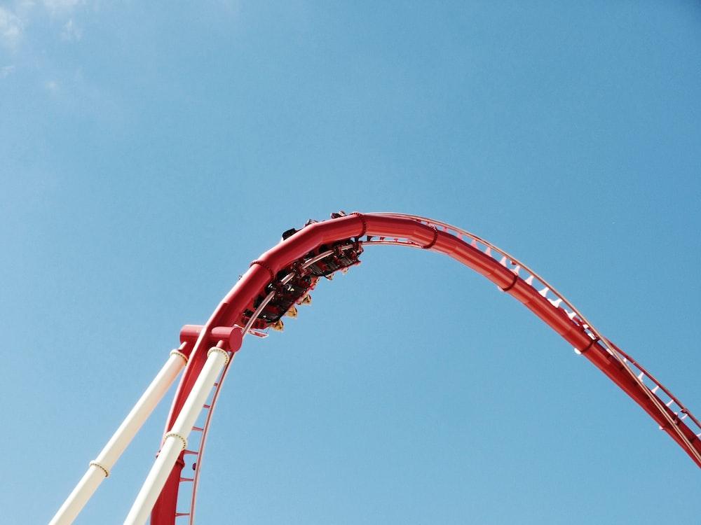 roller coaster during daytime