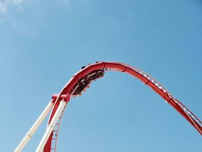 roller coaster during daytime rollercoaster teams background