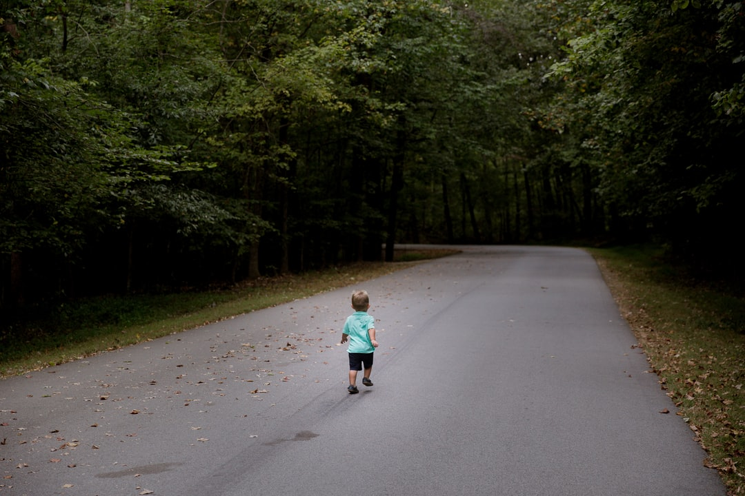 Toddler on a road