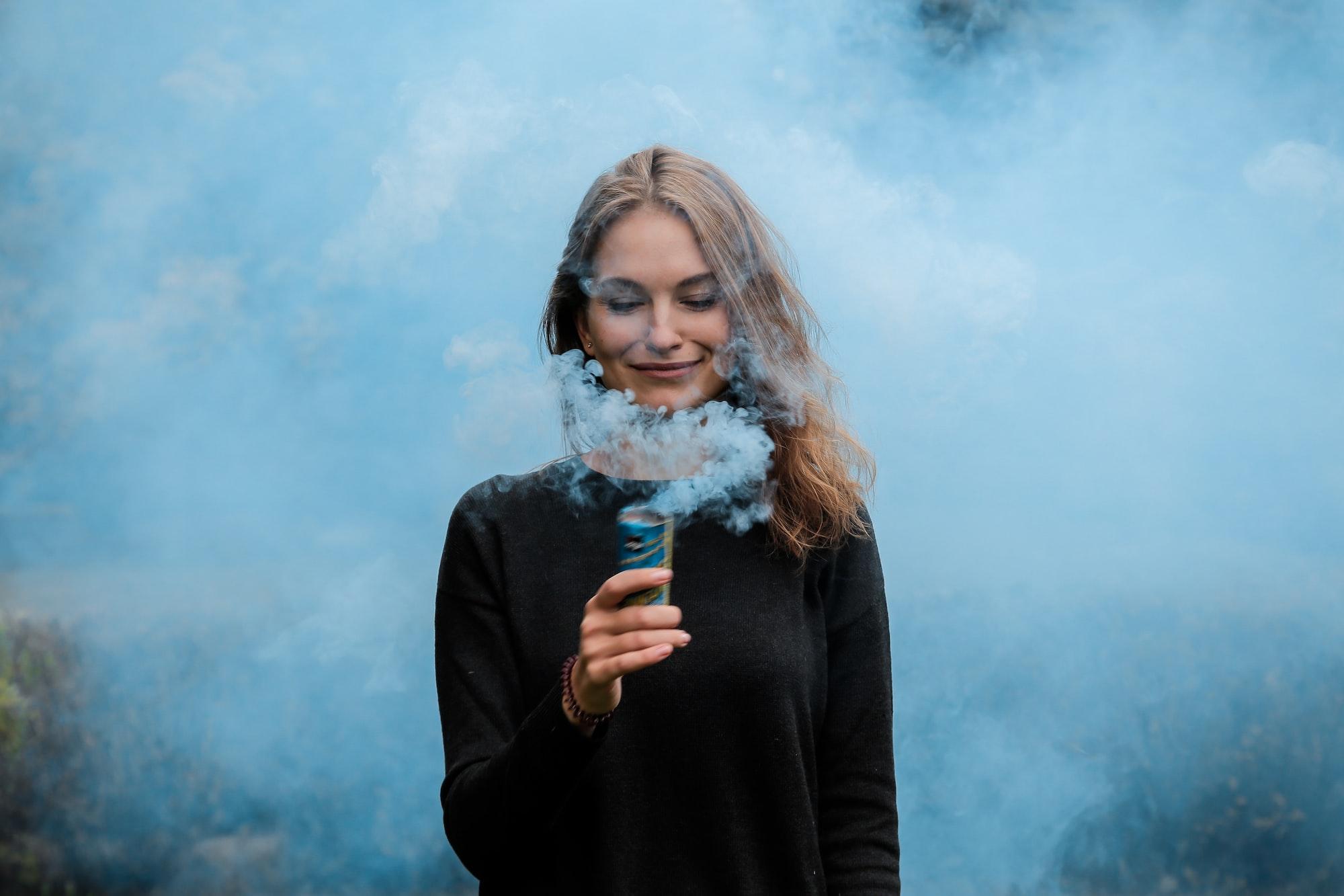 Фотографии с дымовой шашкой