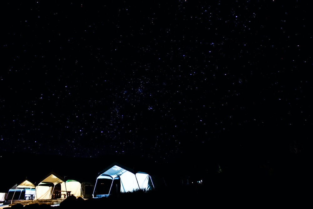 photography of outdoor tent