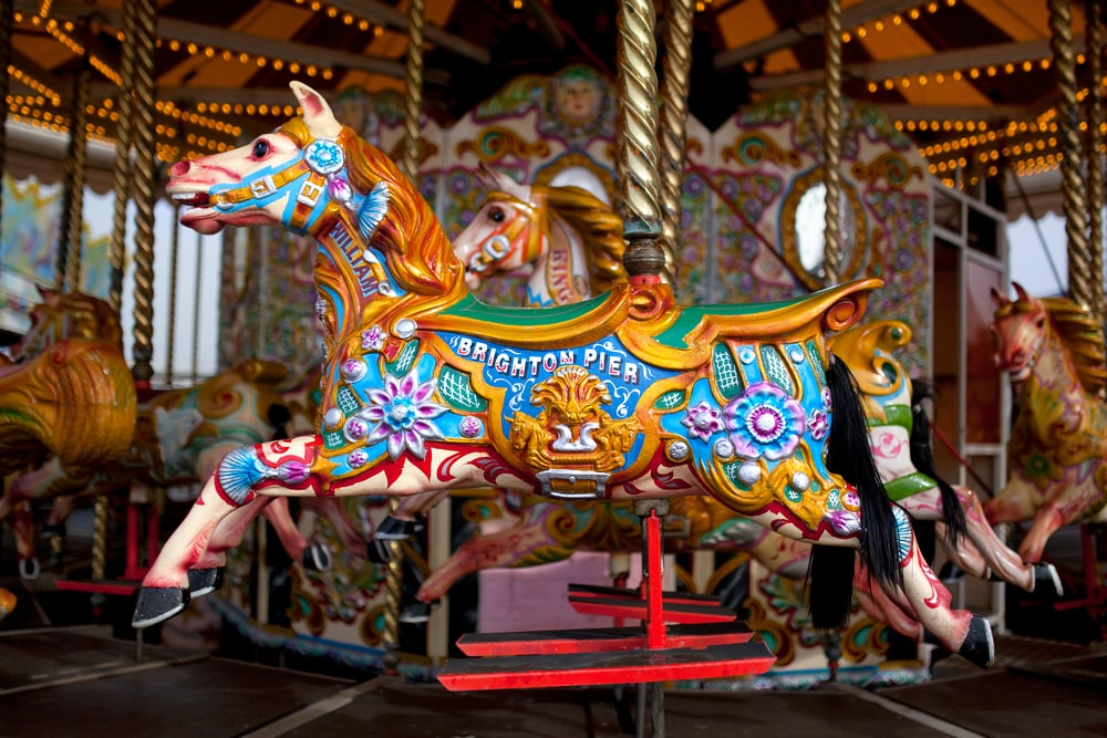 multicolored carousel
