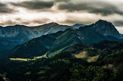aerial view of mountains poland teams background