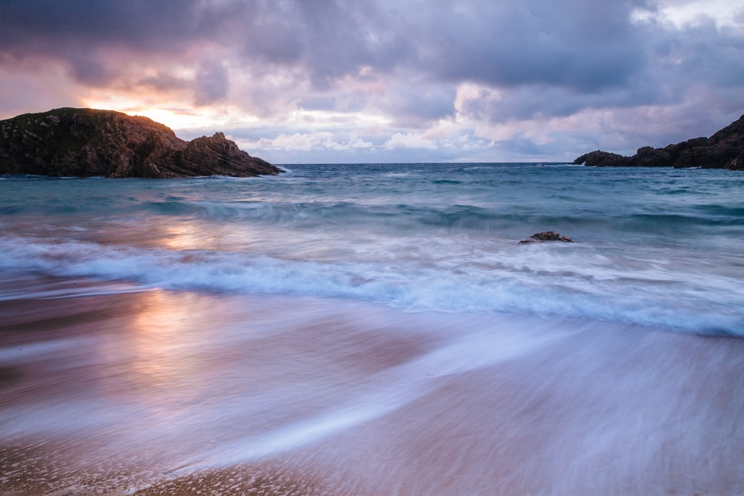 County Donegal sunset waves